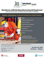 Martinrea-Alfield Manufacturing Hiring Event (IMMEDIATE FT JOBS)