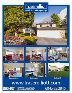 Tsawwassen home on a rectangular 8,500+ sq.ft lot!