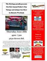 The First Annual Father's Day Vintage/Antique Car Show