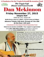 The Utopia Cafe Dinner and Concert with Dan Mckinnon