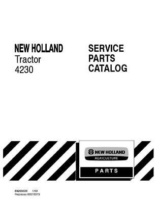 New Holland 4230 Tractor Parts Catalog