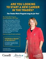 ARE YOU LOOKING TO START A CAREER IN THE TRADES?