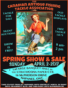 Fishing Tackle Show and sale Napanee Apr 2