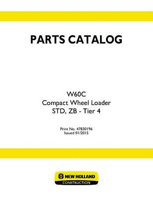 New Holland W60c Compact Wheel Loader Std Zb - Tier 4 Parts Catalog