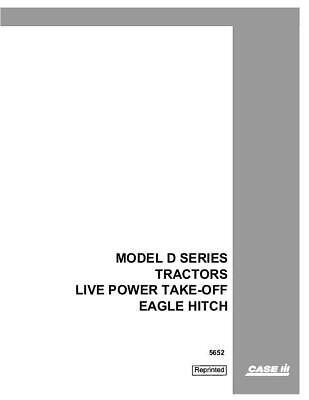 Case Ih D Tractors Live Power Take-off Eagle Hitch Service Manual