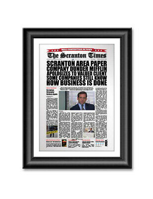 The Office Scranton Times Newspaper Headline Poster Dunder Mifflin