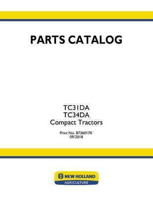 New Holland Tc31da Tc34da Compact Tractor Parts Catalog