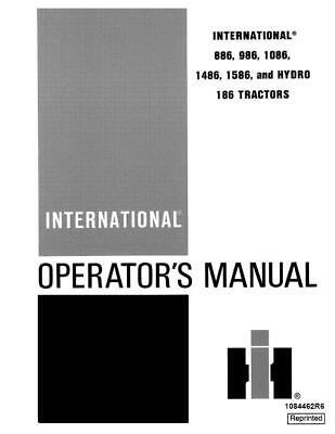 Case Ih International 886986108614861586 And Hydro 186 Operators Manual