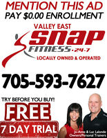 TRY OUT VALLEY EAST SNAP FITNESS FREE FOR 7 DAYS!