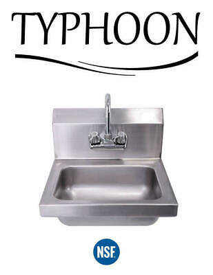 Stainless Steel Restaurant Wall Mount Hand Wash Sink 17-516 Nsf Commercial