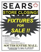 ***SEARS STORE CLOSING - FIXTURES FOR SALE !!!