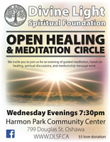 Meditation, hands on healing and spiritual discussion
