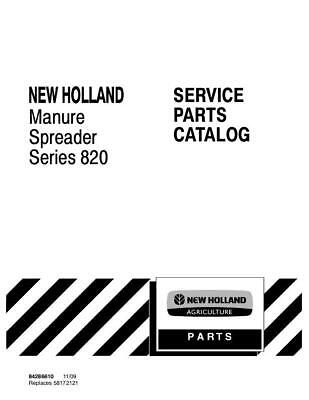New Holland Series 810 Manure Spreader Parts Catalog