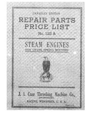 Case Ih Steam Engines Parts Catalog Side Crank Spring Mounted Parts Catalog