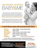 Baby & Me fitness classes -3rd Degree Training