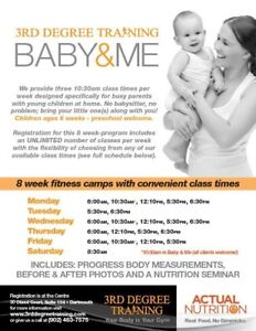 Baby & Me fitness classes -3rd Degree Training - Jun 18th