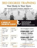 3rd Degree Training Fitness Camp!  Starts Feb 25
