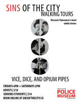 Sins of the City Walking Tour: Vice, Dice, and Opium Pipes