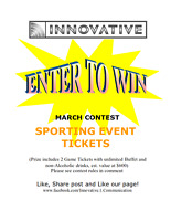 ENTER TO WIN! SPORTING EVENT TICKETS!
