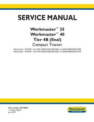 New Holland Workmaster 35 Workmaster 40 Rops Tier 4b Final Compact Tractor Se