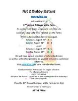 ANTIQUES at the FARM - Saturday 9-5   Sunday  10-4