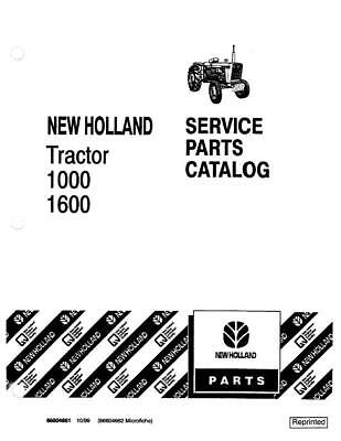 New Holland 1000 1600 Tractor Parts Catalog