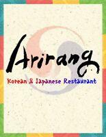 Arirang Restaurant Hiring a Cook