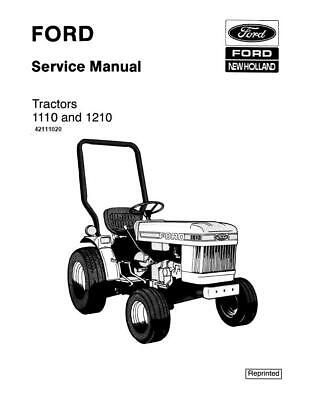 New Holland Se4300 Ford 1110-1210 Tractor Service Manual