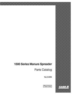 Case Ih 1500 Manure Spreader Parts Catalog