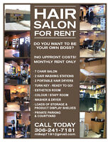 Salon For Lease--January 2018--Turn Key--Be Your Own Boss !!