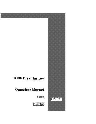 Case Ih 3800 Disk Harrow Operators Manual