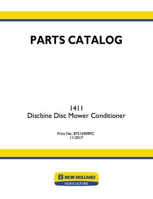 New Holland 1411 Discbine Disc Mower Conditioner Parts Catalog