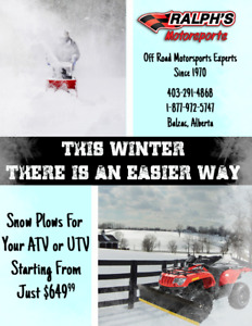 This Winter - There's An Easier Way - ATV & UTV Snow Plows!