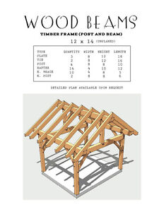 PINE WOOD BEAMS - for a Timberframe 12x14 Shed Kingston Kingston Area image 1