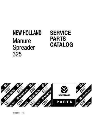 New Holland 325 Manure Spreader Parts Catalog