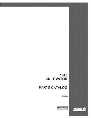 Case Ih 1840 Cultivator Parts Catalog