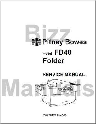 Pitney Bowes Repair Service Parts Manuals Fd40 Folder