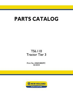 New Holland Ts6.110 Tractor Tier 3 Parts Catalog