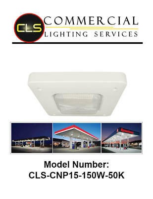 Led Canopy Garage Convenience Store Gas Station White 150 Watt 5000k Petrol
