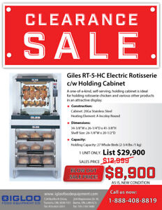 Rotisserie with Warmer, Tandoor, grill, used and new