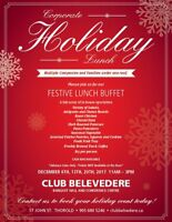 Celebrate the Holidays at Club Belvedere!