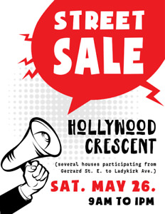 Hollywood Crescent Street Sale (Woodbine Ave. & Gerrard St. E.)