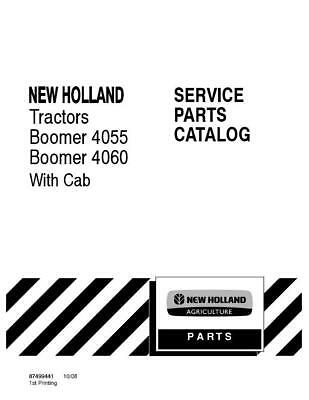 New Holland Boomer 4055 Boomer 4060 Wcab Tractor Parts Catalog