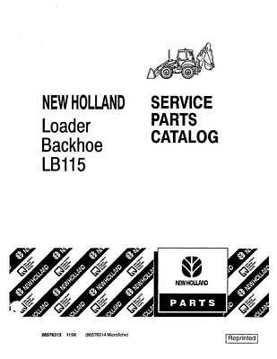New Holland Lb115 Loader Backhoe Parts Catalog