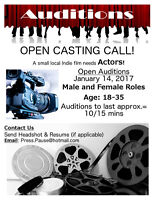 Casting Call! Auditions Sat Jan 14 2017