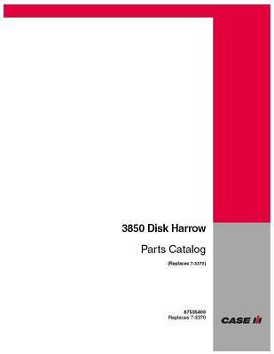 Case Ih 3850 Disk Harrow Parts Catalog