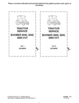 New Holland Boomer 304030453050 Tractor With Cab And Cvt Transmission Service