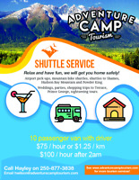 Shuttle service in Northern BC