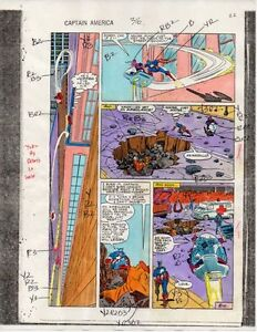 1986-Marvel-Comics-Captain-America-316-page-22-color-guide-art-Avengers-Hawkeye