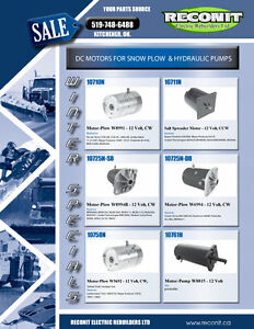 Hydraulic & Snowplow DC Motors